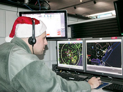 NORAD picks up Santa as he departs North Pole
